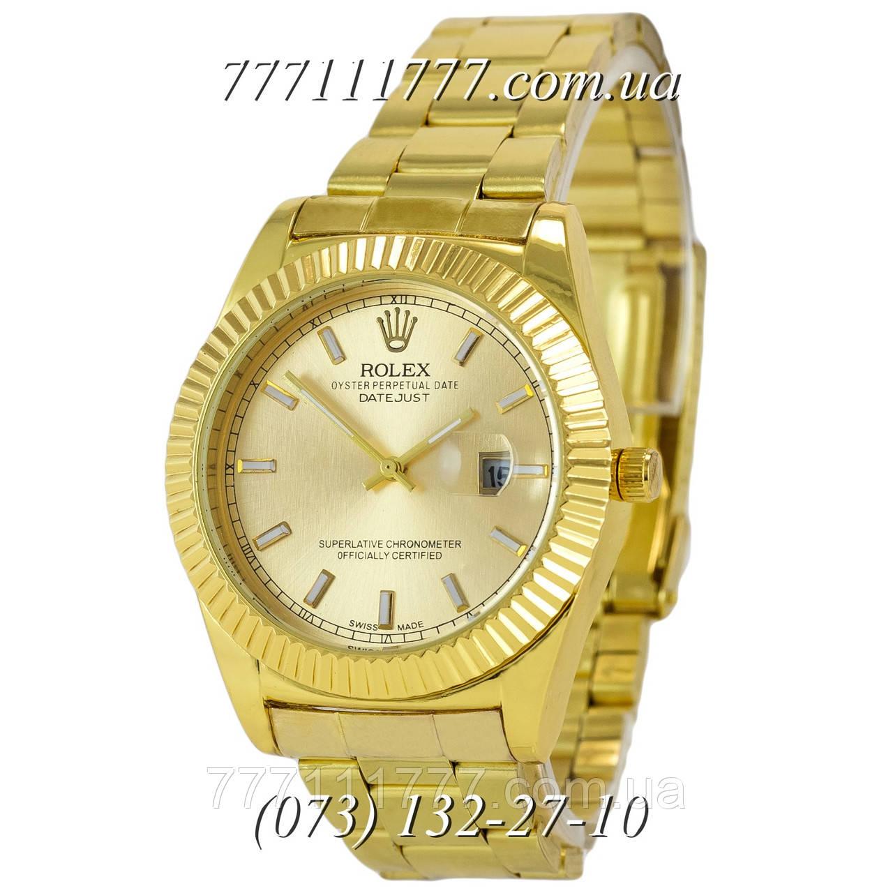 ae4de1a08b6f Часы мужские наручные Rolex Date Just All Gold  продажа, цена в ...