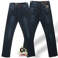 Фирменные мужские классические джинсы Molake тёмно-синего цвета стрейч.