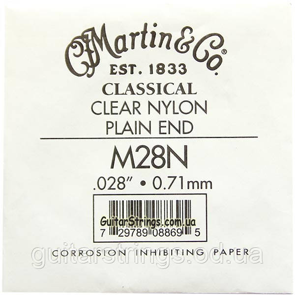 Струна Martin M28N Clear 1st Nylon String Plain End (классика)
