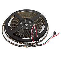 Светодиодная лента RGB SMD5050/WS2811 300 светодиодов, 12 В DC, 5 м, IP65 (черная)