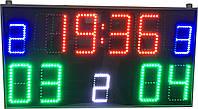 Спортивное табло отображение таймер игры, счет, тайм, фол. Сверхяркое 3000 мКд