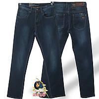 Фирменные мужские классические джинсы Molake тёмно-синего цвета коттон.