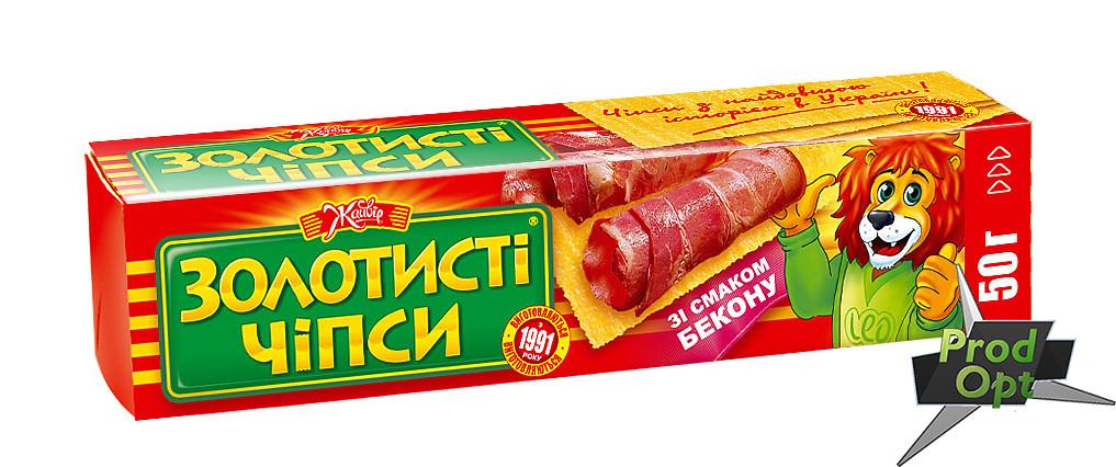 """Чіпси """"Золотисті"""" бекон  50 г"""