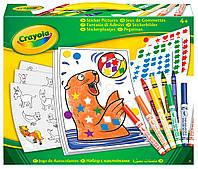 Набор для творчества с наклейками и фломастерами, Crayola
