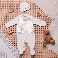 Набор для новорожденных в Украине. Человечек и шапочка для мальчика на выписку,в наличии 56,62рост