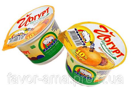 Йогурт сливочный АМА абрикос 10%, фото 2
