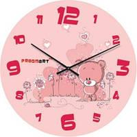 """Часы настенные детские """"Розовые мишки"""" (500мм) [Стекло]"""