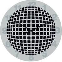 """Большие настенные часы """"Объемная геометрия"""" (500мм) [Стекло]"""