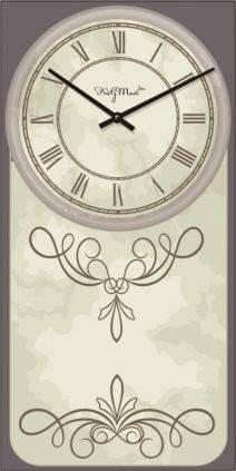 """Часы настенные большие """"Прованс - Узоры"""" (250х500мм) [Стекло, Открытые]"""