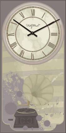 """Часы настенные большие """"Прованс - Патефон"""" (250х500мм) [Стекло, Открытые]"""