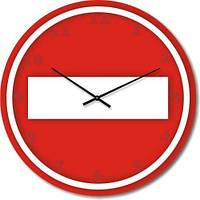 """Часы настенные """"Въезд запрещен"""" (500мм) [Стекло, Открытые]"""