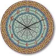 """Большие настенные часы """"Орнамент из мозайки"""" (500мм) [Стекло, Открытые]"""