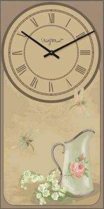 """Часы настенные большие """"Прованс - Кувшин"""" (250х500мм) [Стекло, Открытые]"""