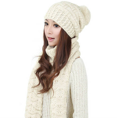 Женский зимний шарф с шапкой