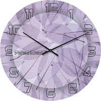 """Большие настенные часы """"Кружево из листьев"""" (500мм) [Стекло, Открытые]"""