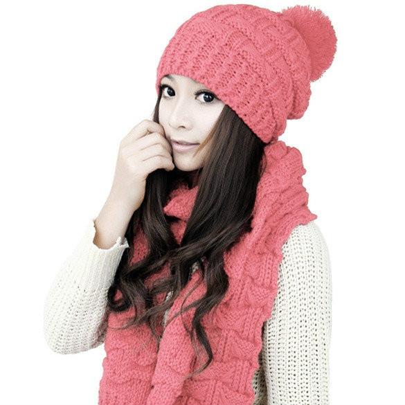Женский шарф и шапка