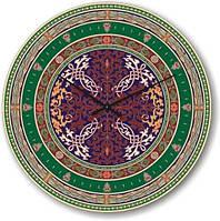 """Большие настенные часы """"Разнообразие орнаментов"""" (500мм) [Стекло]"""