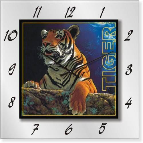 """Часы настенные """"Тигр"""" (500мм) [Стекло, Открытые]"""
