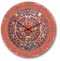 """Большие настенные часы """"Розовая мозайка"""" (500мм) [Стекло]"""