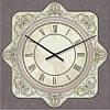 """Часы настенные большие """"Прованс - Узор"""" (500мм) [Стекло, Открытые]"""