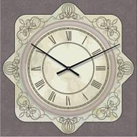 """Часы в провансе """"Прованс - Узор"""" (500мм) [Стекло, Открытые]"""
