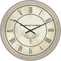"""Часы настенные большие """"Римские цифры 4"""" (500мм) [Стекло, Открытые]"""