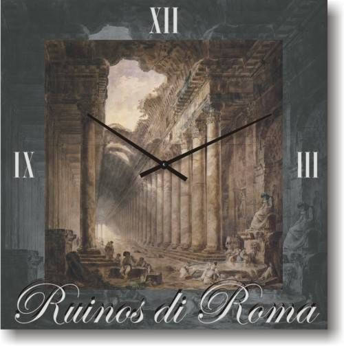 """Часы настенные большого размера """"Римские руины"""" (500мм) [Стекло, Открытые]"""
