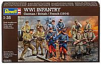 Набор фигурок WWI INFANTRY German/British/French (1914), 1:35, Revell