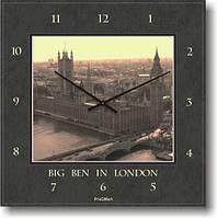 """Часы настенные большие """"Биг Бэн в Лондоне"""" (500мм) [Стекло, Открытые]"""