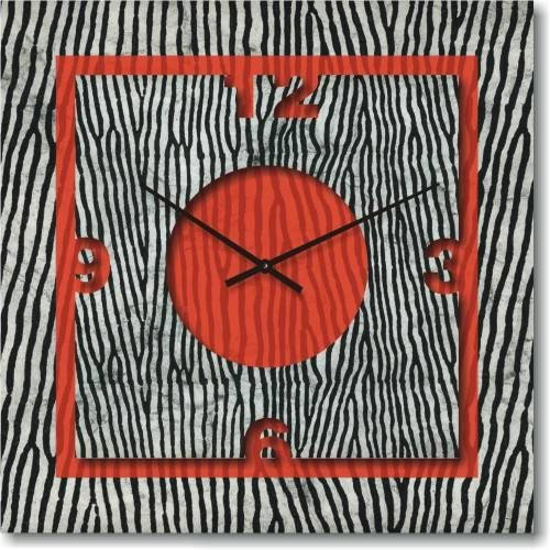 "Часы настенные ""Красный акцент"" (500мм) [Стекло, Открытые]"