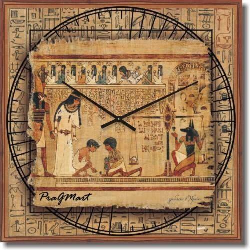 """Часы настенные большого размера """"Египетская фреска"""" (500мм) [Стекло, Открытые]"""