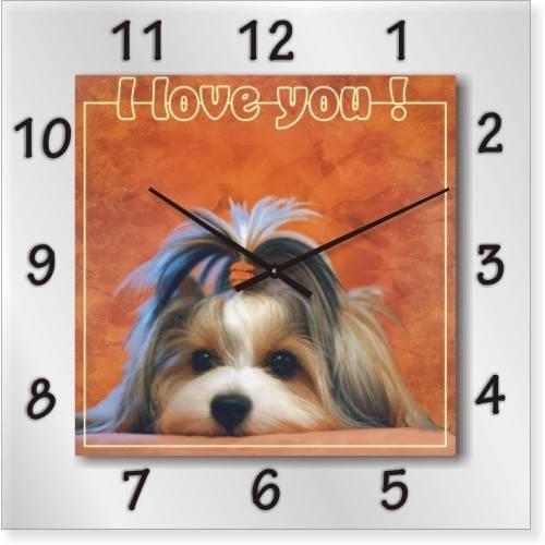 """Часы настенные """"I love you!"""" (500мм) [Стекло, Открытые]"""