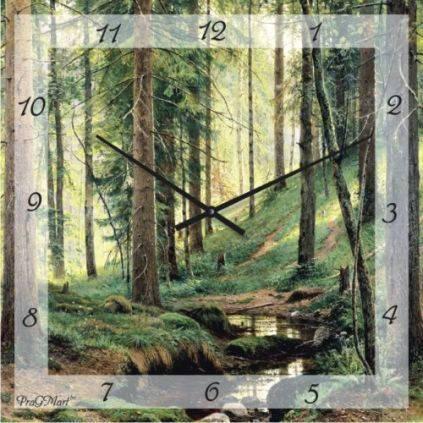 """Часы настенные """"Сосновый бор"""" (500мм) [Стекло, Открытые]"""
