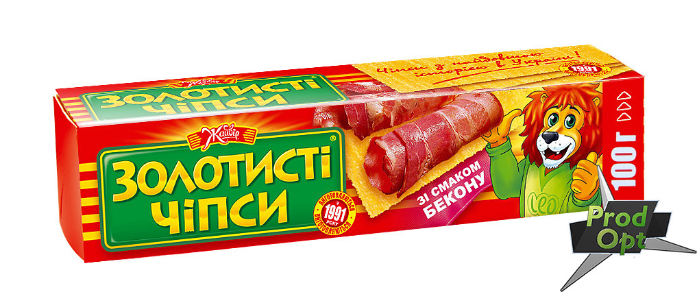 """Чіпси """"Золотисті"""" бекон 100 г"""