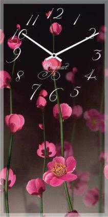 """Большие настенные часы """"Цветы вишни"""" (250х500мм) [Стекло, Открытые]"""