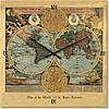 """Часы настенные большого размера """"Карта мира"""" (500мм) [Стекло, Открытые]"""