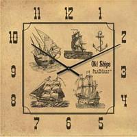 """Часы настенные """"Старые корабли"""" (500мм) [Стекло]"""