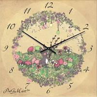 """Часы настенные детские """"Зайчик на поляне"""" (500мм) [Стекло, Открытые]"""