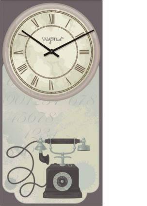 """Часы в провансе """"Прованс - Телефон"""" (225х450мм) [Стекло, Открытые]"""