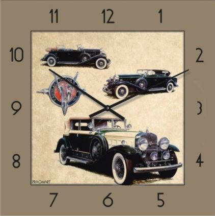 """Часы настенные """"Ретро-Автомобиль-4"""" (500мм) [Стекло, Открытые]"""