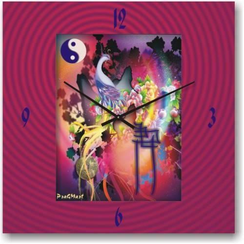 """Часы настенные """"Разноцветие"""" (500мм) [Стекло, Открытые]"""