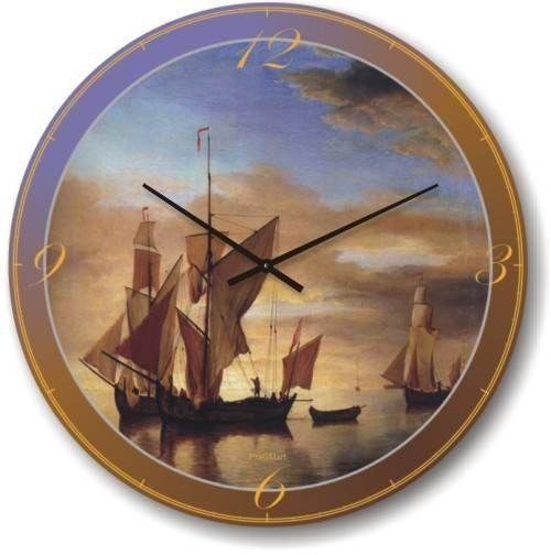 """Часы настенные """"Парусники в штиль"""" (450мм) [Стекло, Открытые]"""