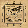 """Часы настенные большого размера """"Аэропланы и летающие машины"""" (500мм) [Стекло, Открытые]"""