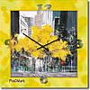 """Часы настенные большие """"Осень в городе"""" (500мм) [Стекло, Открытые]"""
