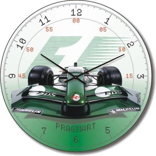 """Часы настенные """"Гоночная машина"""" (450мм) [Стекло, Открытые]"""
