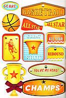 Наклейки Спорт - набор Баскетбол, Mota