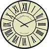 """Часы настенные """"Римские цифры 1"""" (300мм) [Стекло, Открытые]"""