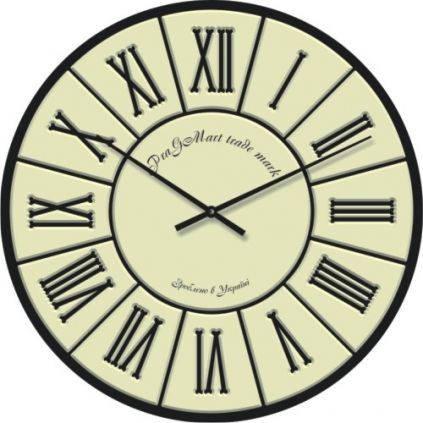 """Настенные офисные часы """"Римские цифры 1"""" (300мм) [Стекло, Открытые]"""