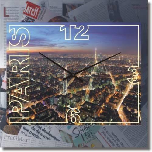 """Часы настенные большие """"Paris"""" (500мм) [Стекло, Открытые]"""
