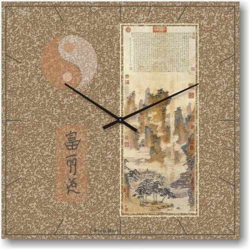 """Часы настенные """"Фен-шуй-7"""" (500мм) [Стекло, Открытые]"""